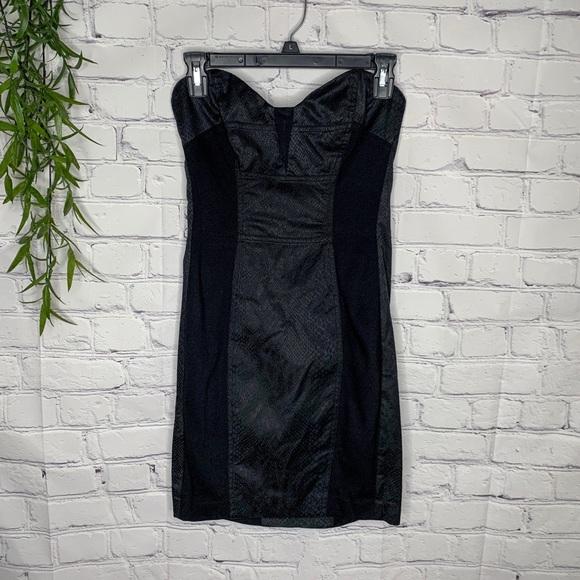 bebe Dresses & Skirts - Bebe snake print bodycon strapless dress size 6